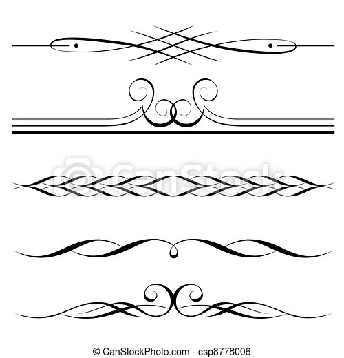 decorative elements, border and page rules - csp8778006
