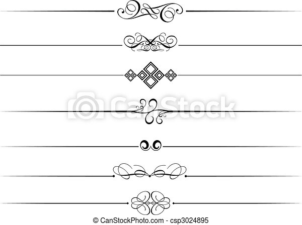 Decorative page dividers - csp3024895