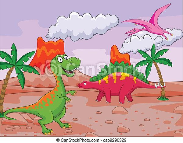 Dinosaur cartoon - csp9290329