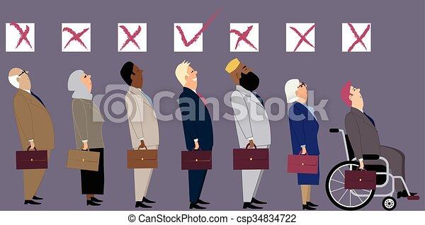 Discrimination at job interview - csp34834722