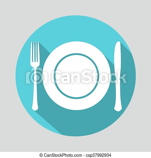 Dish fork and knife icon - csp37992934