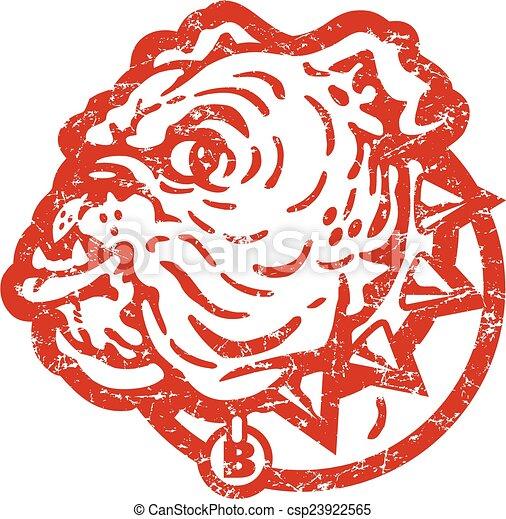 distressed bulldog face - csp23922565