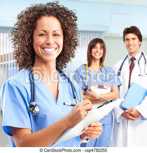 doctor and nurses - csp4782255