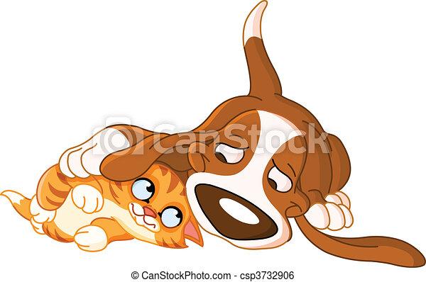 Dog and cat - csp3732906