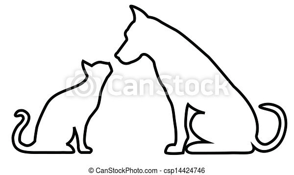 Dog and cat composition - csp14424746