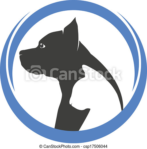 Dog and cat silhouettes logo - csp17506044