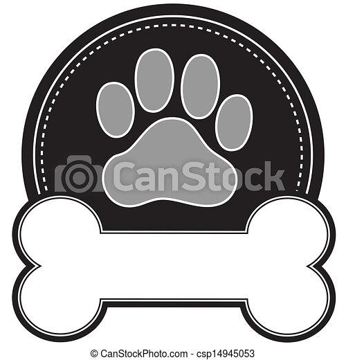Dog Bone and Paw - csp14945053