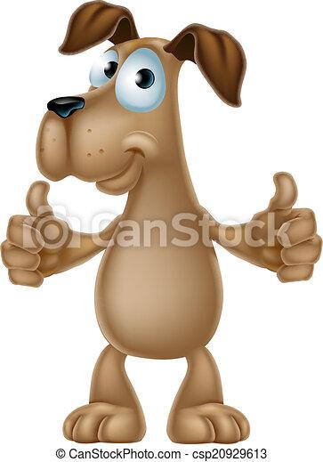 Dog cartoon giving thumbs up - csp20929613