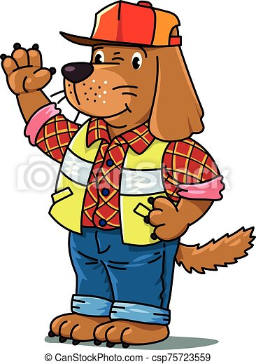 Dog driver Animals and professions ABC. Alphabet D - csp75723559