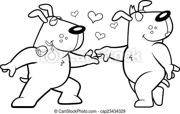 Dog Romance - csp23434329