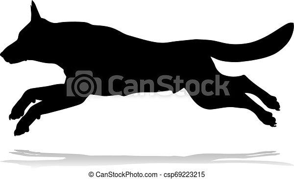 Dog Silhouette Pet Animal - csp69223215