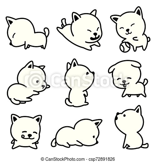 Dog vector french bulldog character icon cartoon breed Puppy illustrations doodle - csp72891826