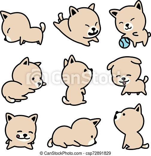 Dog vector french bulldog character icon cartoon breed Puppy illustrations - csp72891829