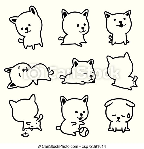 Dog vector french bulldog character icon breed Puppy illustrations - csp72891814