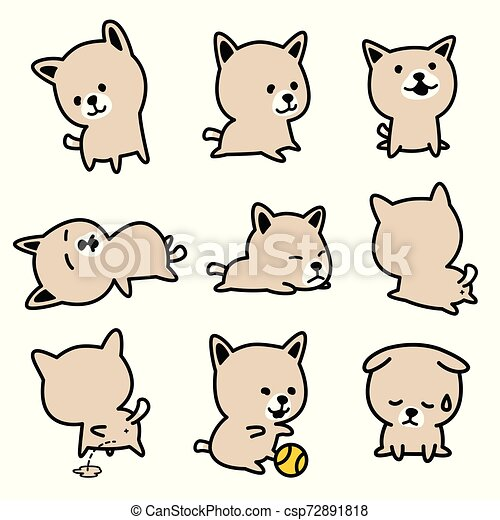Dog vector french bulldog character icon cartoon breed Puppy illustration doodle - csp72891818