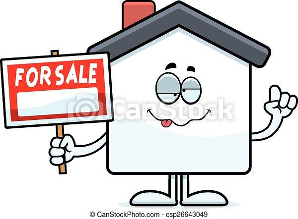 Drunk Cartoon Home Sale - csp26643049