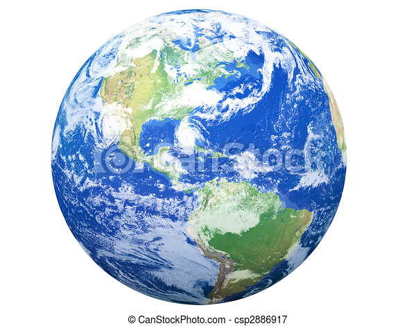 Earth Model: USA View - csp2886917