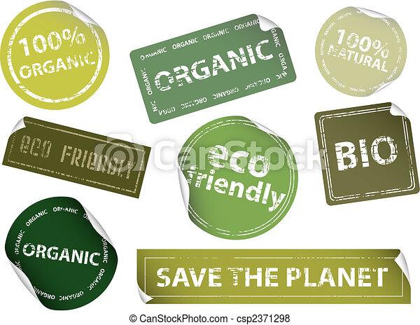 Eco-Friendly Labels - csp2371298