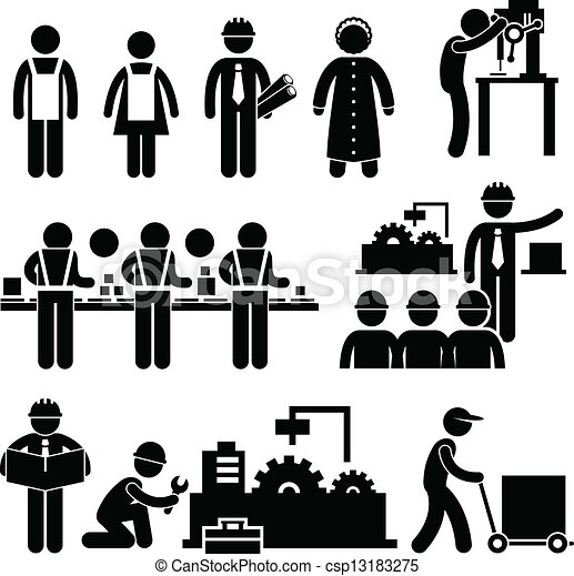 Factory Worker Manager Working - csp13183275