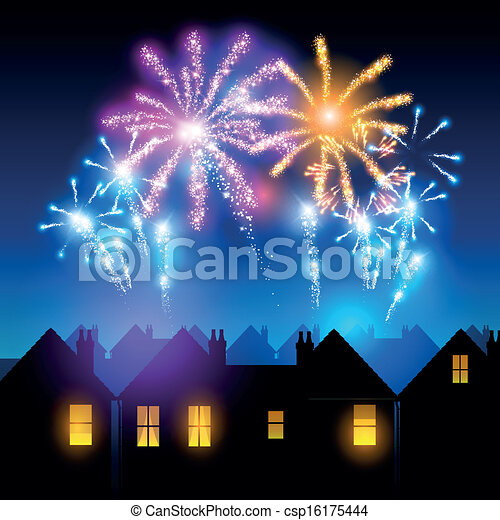 Fireworks Night - csp16175444
