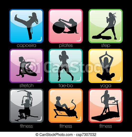 Fitness Buttons Set - csp7307032
