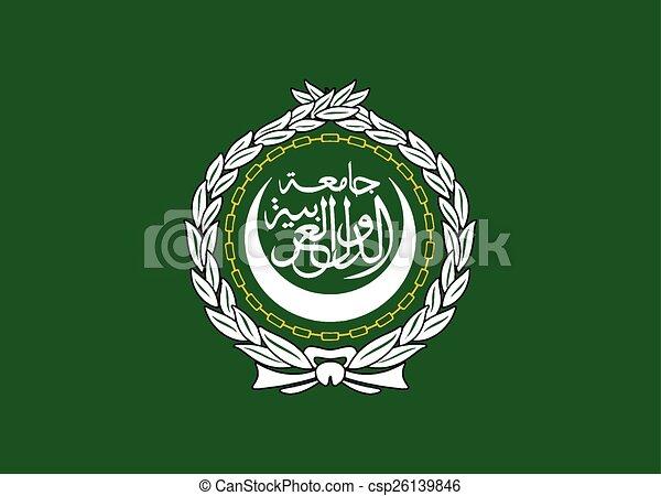 Flag of the Arab League - csp26139846