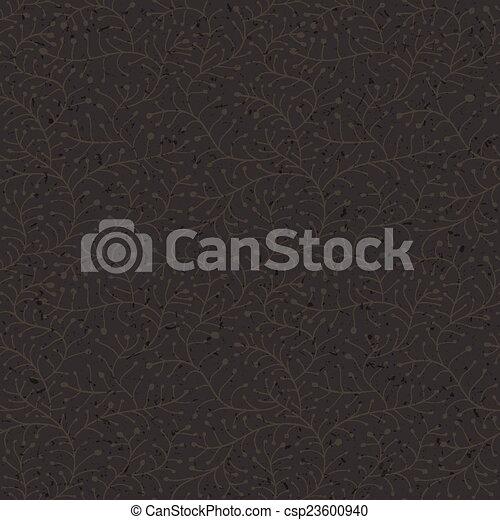 Floral dark seamless pattern. Vector - csp23600940