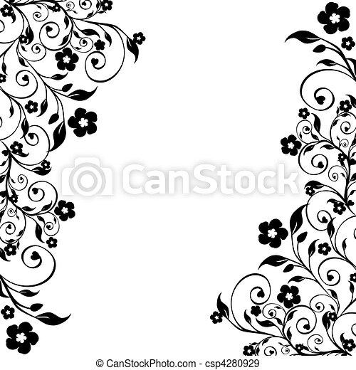 floral ornament - csp4280929