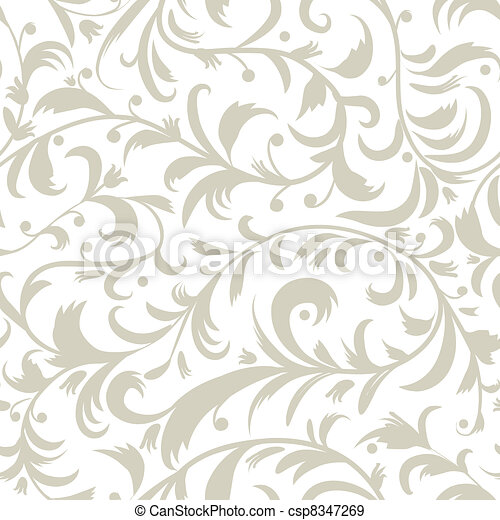Floral seamless pattern for your design - csp8347269