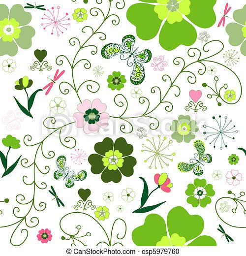 Floral seamless pattern - csp5979760