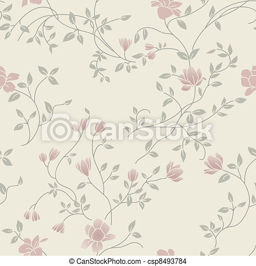 Floral vintage seamless pattern - csp8493784