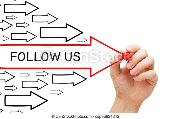 Follow Us Arrows Concept - csp36634843