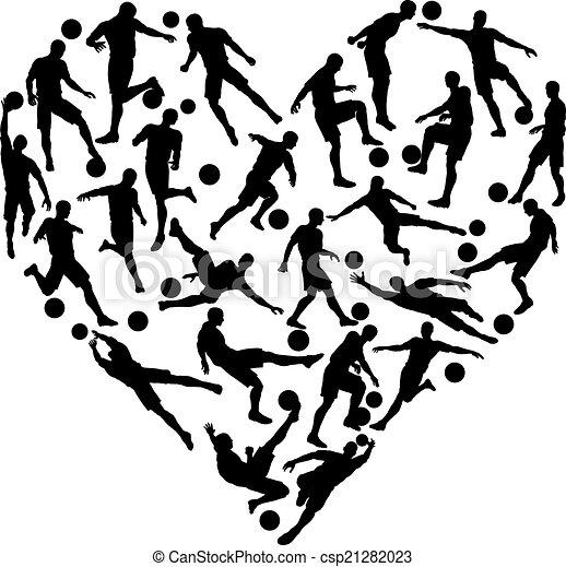 Football soccer heart - csp21282023