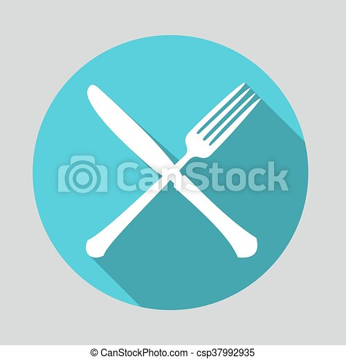 Fork and Knife icon - csp37992935
