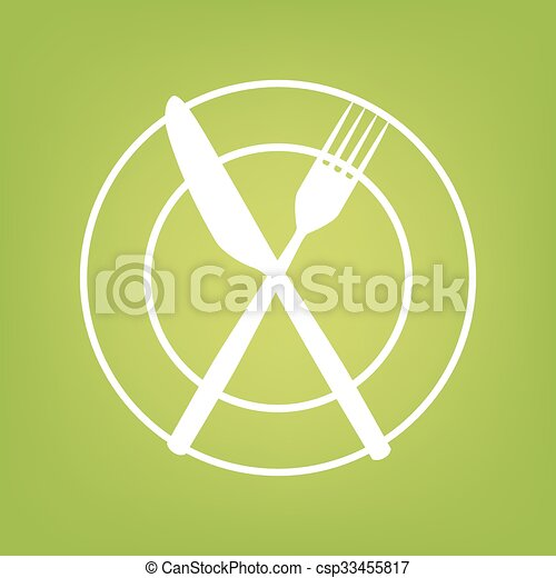 Fork and Knife line icon - csp33455817