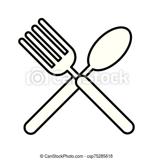 fork and spoon cutleries icon - csp75285618