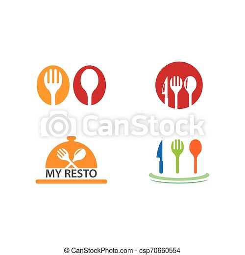 fork and spoon icon - csp70660554