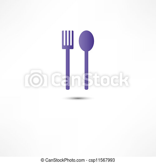 fork and spoon icon - csp11567993