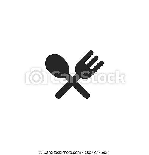 fork and spoon icon - csp72775934