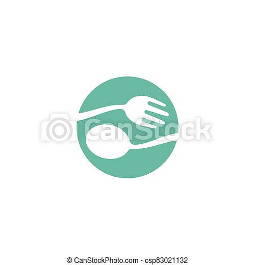 fork and spoon icon - csp83021132