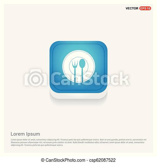 Fork and spoon icon - csp62087522