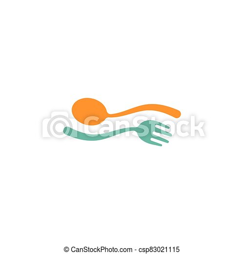fork and spoon icon - csp83021115