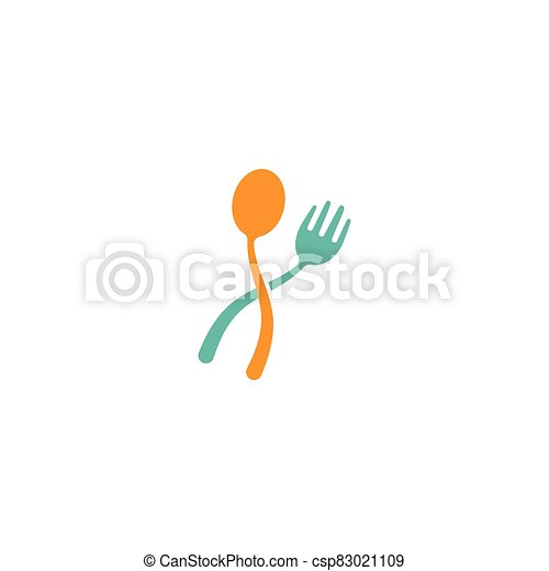 fork and spoon icon - csp83021109