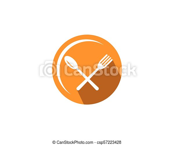 fork and spoon icon vector - csp57223428