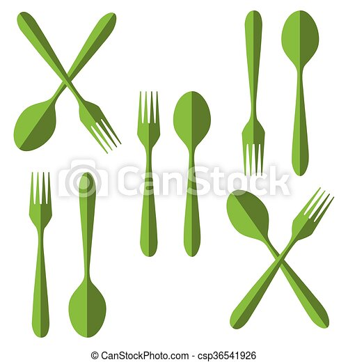 fork and spoon - csp36541926