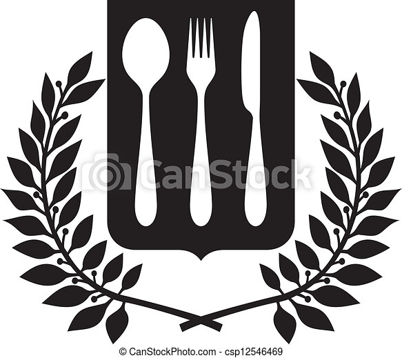 fork and spoon knife design - csp12546469