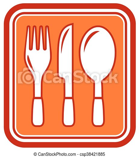 fork, knife, spoon icon - csp38421885