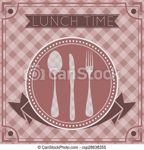 fork spoon knife background - csp28638355