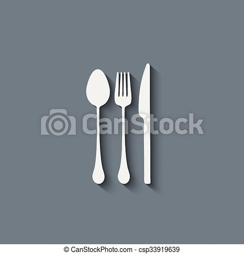 fork spoon knife - csp33919639