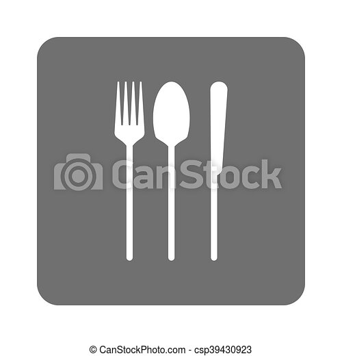 fork spoon knife icon - csp39430923